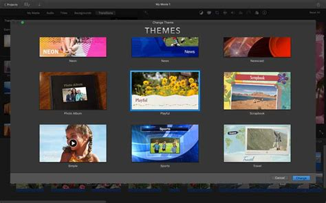 themes for imovie iphone imovie for mac review create great looking movies out of