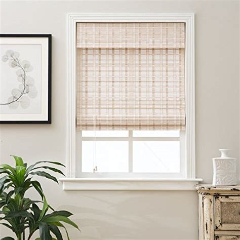 26 inch shades single 26 x 74 inch length white bamboo blinds