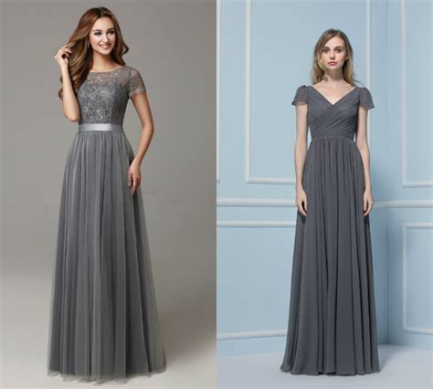 Bridesmaid Dresses Uk Sleeve - gray bridesmaid dresses with sleeve budget