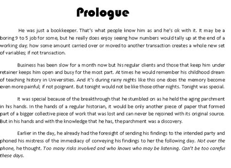 prologue template caz writings