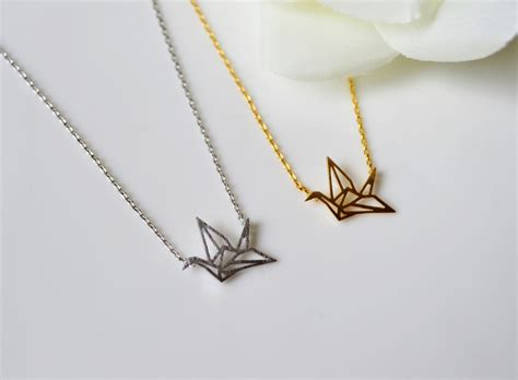 Origami Crane Necklace - crane necklace origami crane necklace paper crane on luulla