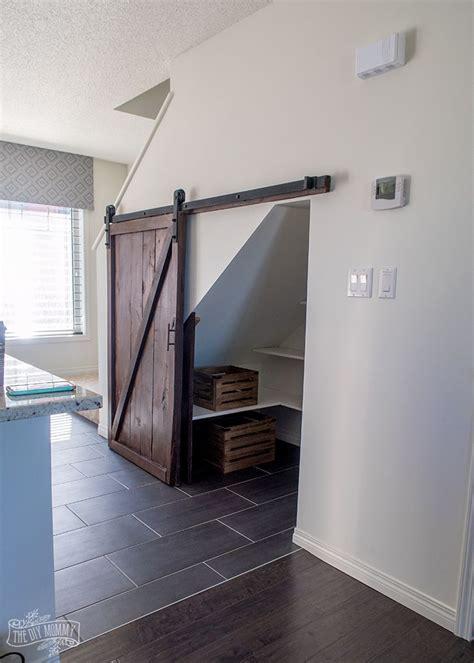 build   stairs pantry   diy sliding