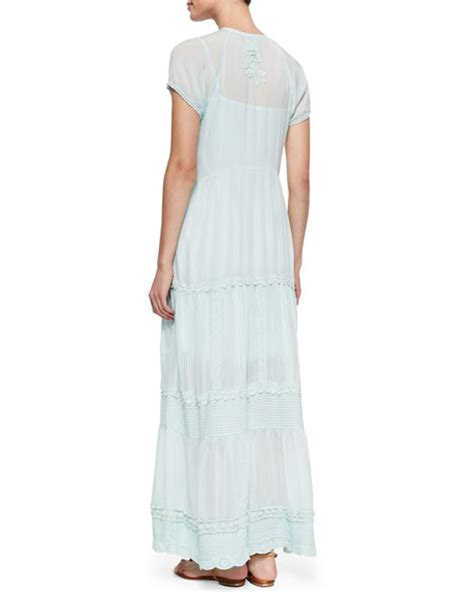 Flowing Maxi johnny was flowing trim maxi dress