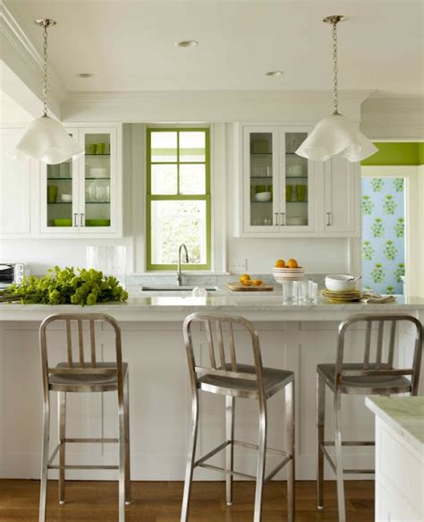 Green And White Kitchen by Vered Design Not A Cookie Cutter White Kitchen