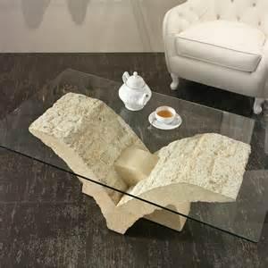 Table Basse En Pierre 9 Maison luxe salon table basse bois canap