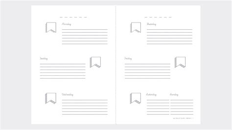 Journal Printable Template