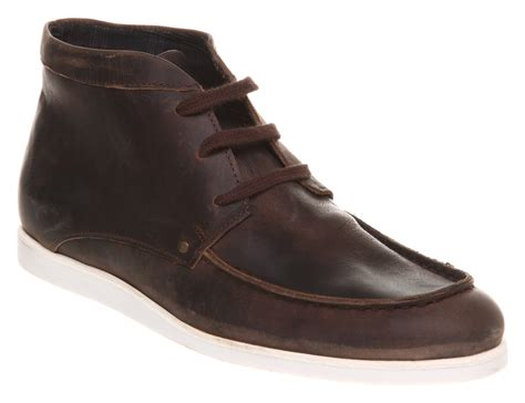 mens boots office mens office zither apron casual boot choc leather boots ebay