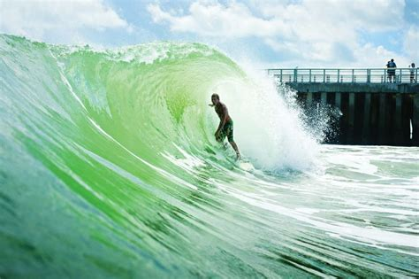 Surfing Florida by Inlet Fl In All Its Green Goodness Fl