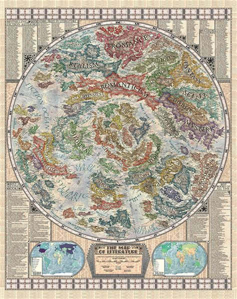 Literature Map by Martin Vargic S Gorgeous Map Of Literature Books