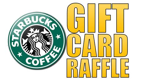 Starbucks Gift Card Donations - starbucks gift card raffle youtube