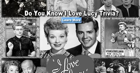 i love lucy trivia quiz take a stroll down memory lane with this nostalgic i