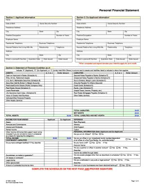 Suntrust Personal Financial Statement Fill Online Printable Fillable Blank Pdffiller Suntrust Bank Statement Template