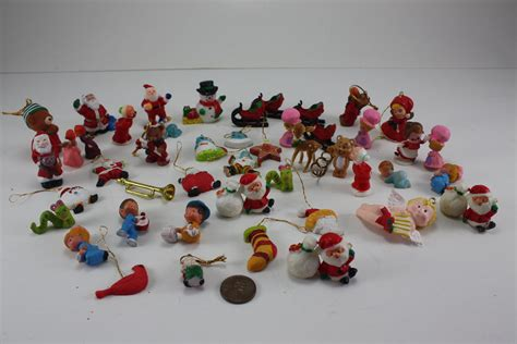 vintage miniature christmas ornaments plastic resin by