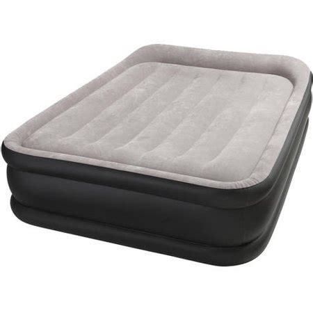 intex deluxe raised pillow rest airbed mattress with built in and sizes