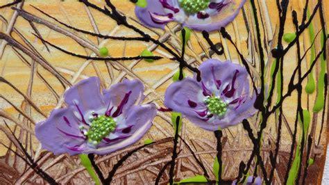 dipinti di fiori astratti fiori astratti lilla vendita quadri quadri