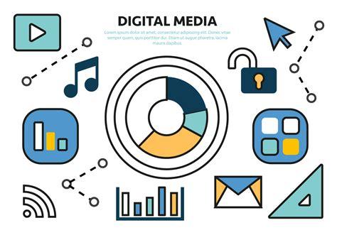 Laptop Aufkleber Media Markt by Freie Wohnung Digital Media Konzept Vektor Kostenlose