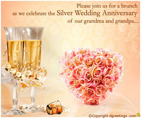 25th Anniversary Invitation Wording   25th Wedding