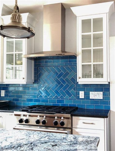 blue kitchen backsplash inspired tile backsplash calm cool and colorful