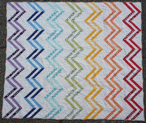 rainbow zig zag quilt pattern a zig and a zag complete flickr photo sharing