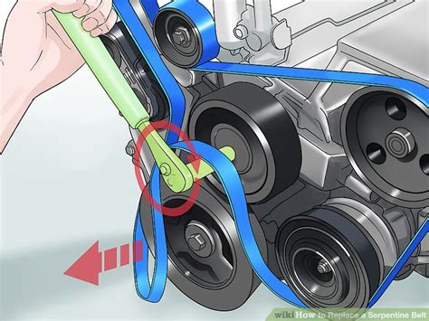 replace  serpentine belt  steps  pictures