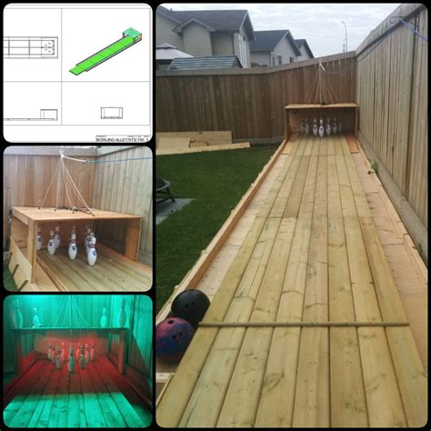 diy backyard bowling alley diy backyard bowling alley
