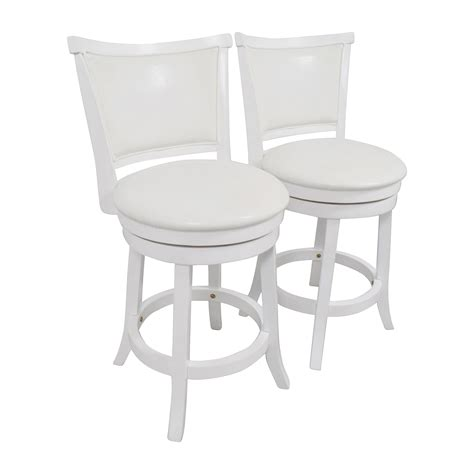 swivel counter height chairs 90 corliving corliving white leatherette swivel counter height bar stool chairs
