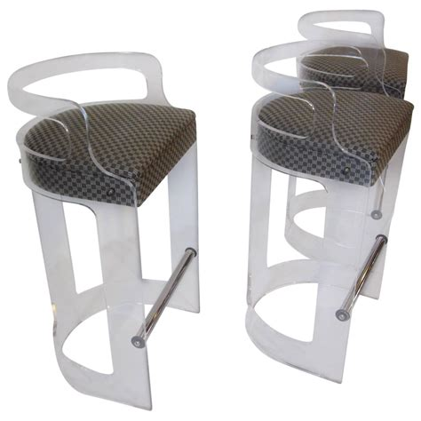 lucite counter chairs charles hollis jones lucite bar stools at 1stdibs