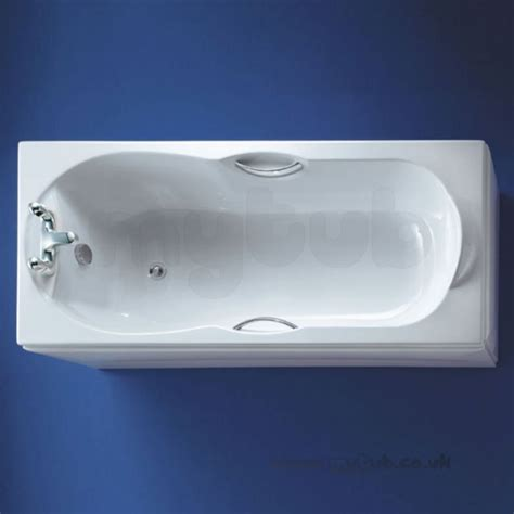 bathtub water saver ideal standard alto e769001 water saving bath 1700 x 700 wh two tap holes and hg