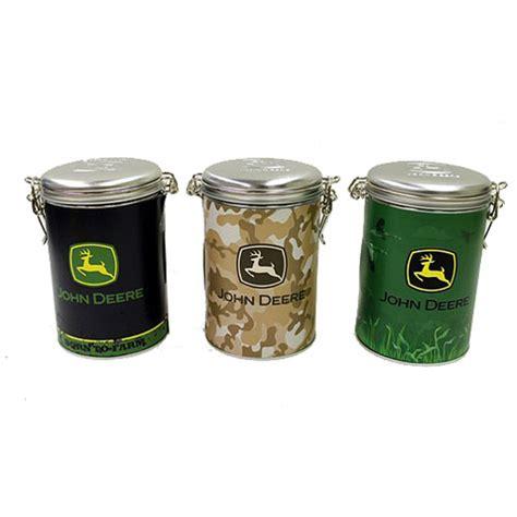 john deere square lock top tin canister set on popscreen john deere theme decor house home