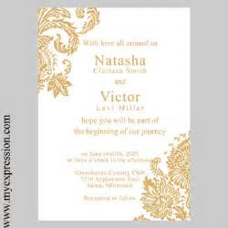 template gold gold invitations template best template collection