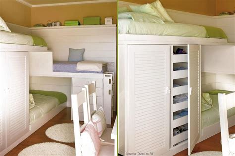 Bunk Beds For Small Rooms 3 In 1 Bunk Beds Popideas Co