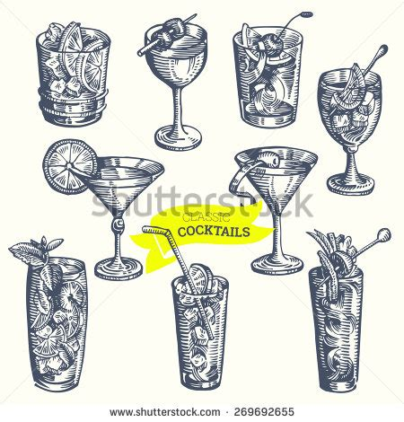 vintage cocktail party illustration cocktail stock photos royalty free images vectors