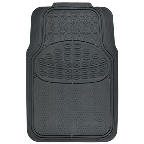Metallic Car Mats by Car Rubber Floor Mats Blue Metallic Design On Black Heavy Duty Rubber Ebay