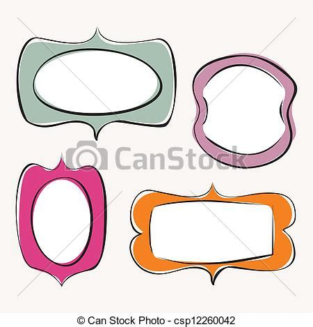 doodle free text option eps vector of colorful doodle frame vector set set of