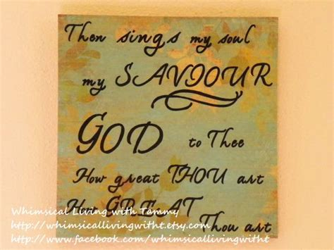 God Is In The Room Lyrics by 12x12 Whimsical How Great Thou Quote Sign Wall Hanging Home Dec