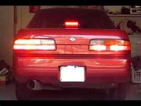 s13 clear tail lights nissan 240sx s13 led taillight conversion driver
