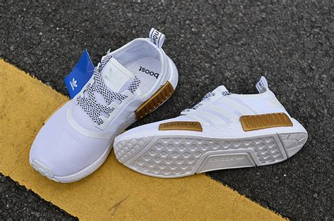 wholesale adidas nmd xr1 primeknit og gold white s s light casual sneakers shoes