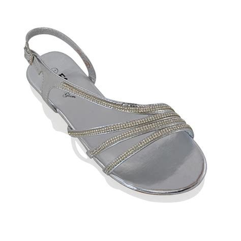 sparkly sandals flat womens flat diamante strappy sandals sparkly bridal
