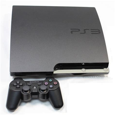 console ps3 sony playstation 3 ps3 slimline slim 120gb charcoal