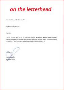 Employment Letter For Visa Australia How To Write Visa Application Letter