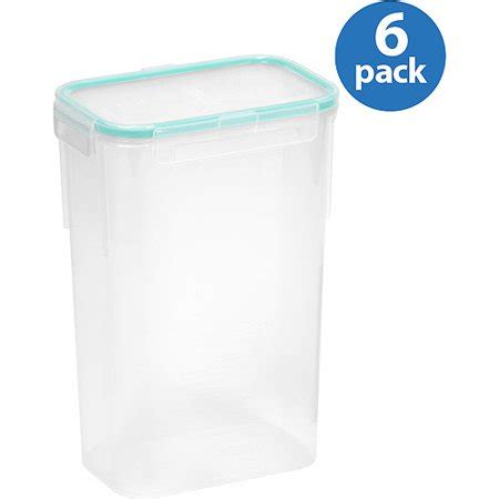 snapware containers snapware airtight 10 cup rectangle food storage container 6 pack walmart