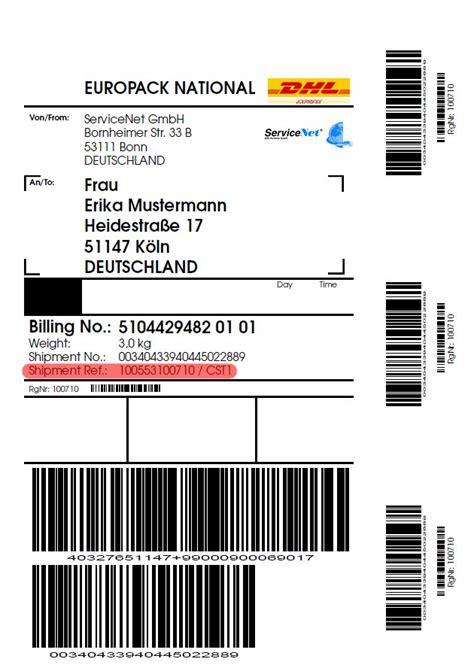 Dhl Etiketten Aufkleber by Dhl Paketaufkleber