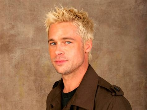 brad pitt natural hair 16 celebrities with very blonde ambition page 3 the