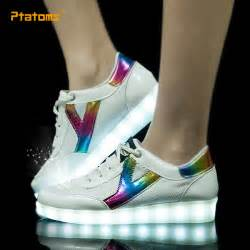 fashion led sneakers breathable usb mens light up