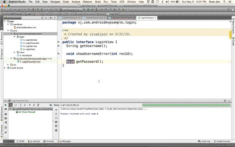 mvp pattern youtube unit testing android code using android studio and the