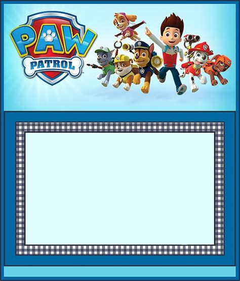 paw patrol birthday card template free free paw patrol invitation template invitations