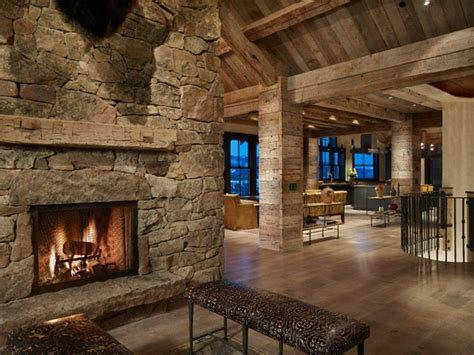 rustic house design in western style ontario residence ranch style house with fireplace montana ranch home