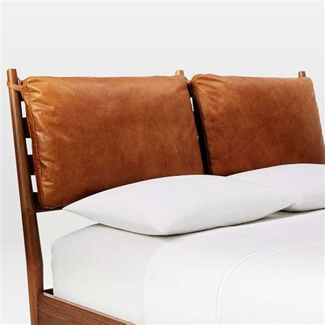 bed cushions arne bed leather cushions west elm