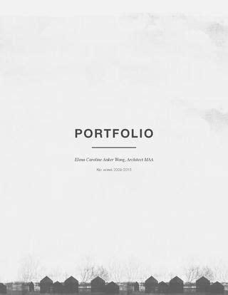 Architecture Portfolio Title Page For A Portfolio Template