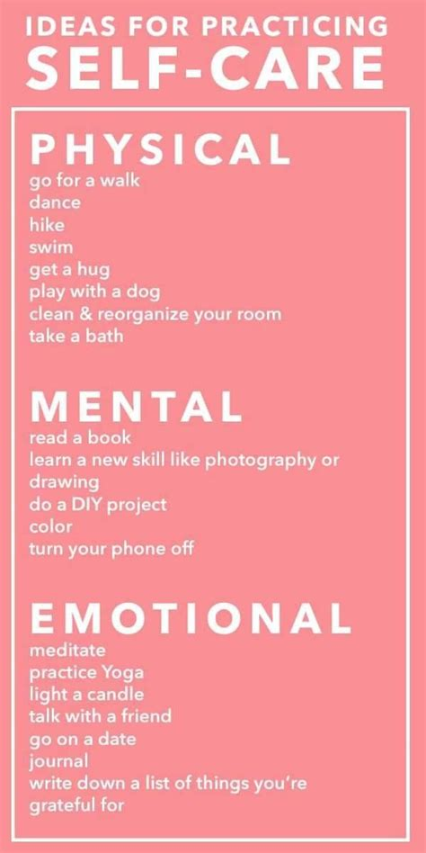 Emotional Self self care is physical mental and emotional make sure
